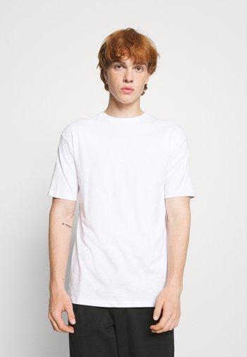 5 PACK - T-shirt - bas - white/forest green/burgundy