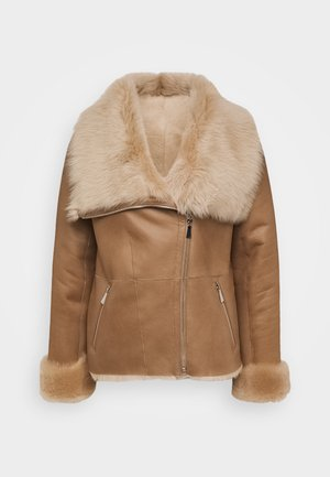 PHILIPPA JACKET - Giacca di pelle - camel/light camel