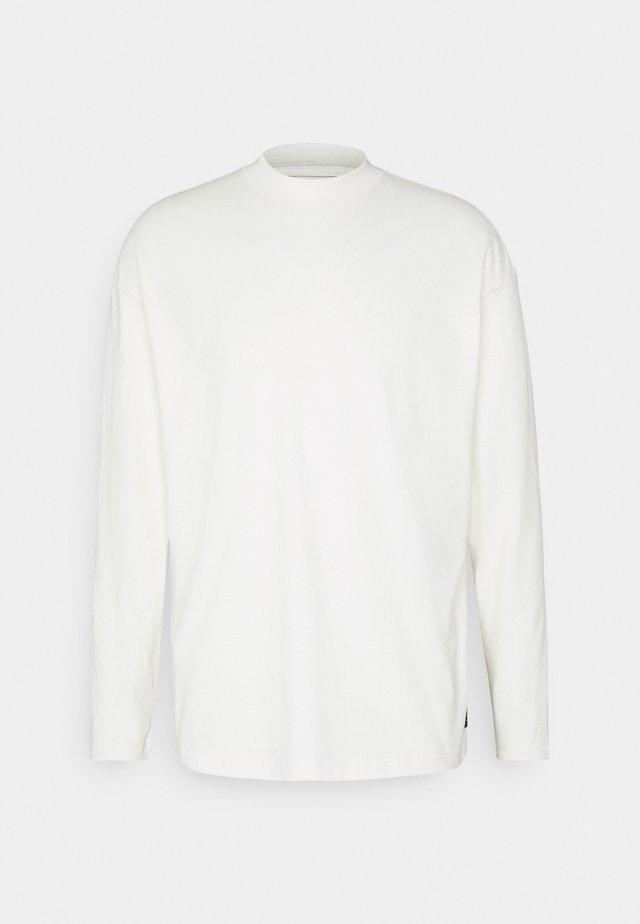 HIGH COLLAR - Långärmad tröja - white