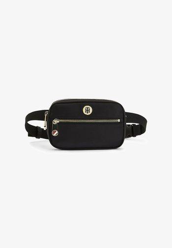 MONOGRAM PLAQUE - Bum bag - black