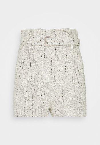 SAME - Shorts - ecru/black