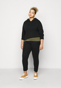 Dorothy Perkins Curve - LOUNGE POCKET HOODY - Maglione - black - 1