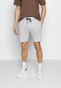 Pier One - Pantaloni sportivi -  light grey /black - 3