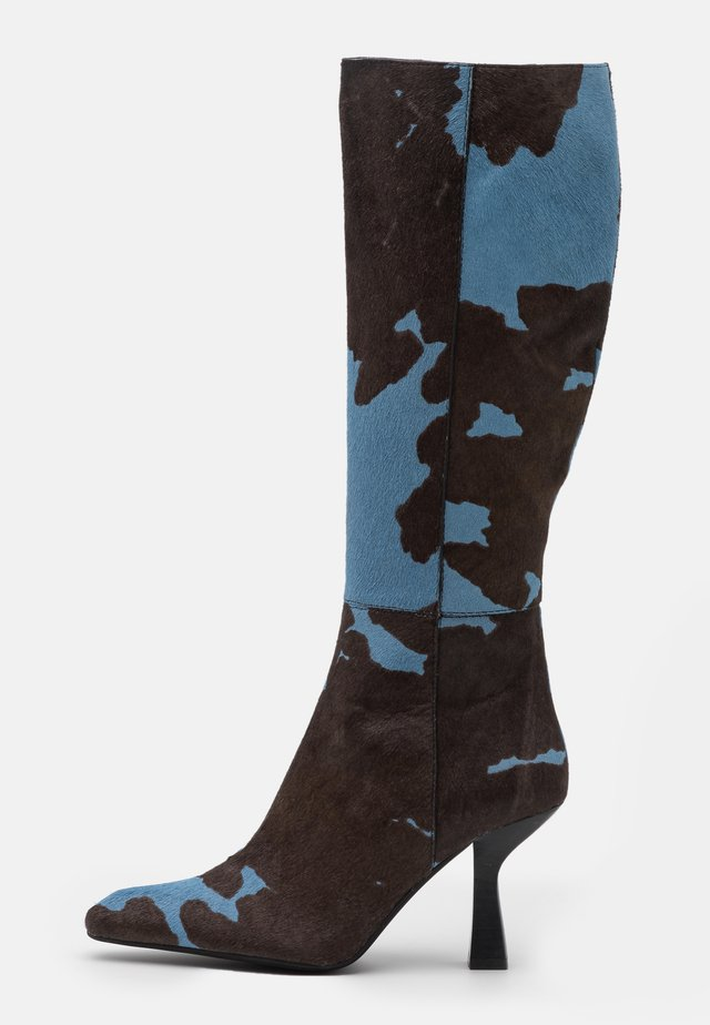 HUXTABLE - Boots - blue/brown