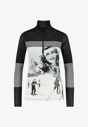 Sweatshirt - schwarz / weiss