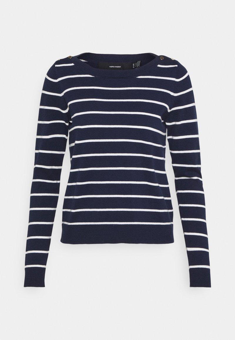 Vero Moda Petite - VMALMA BOATNECK  - Jumper - navy blazer/snow white