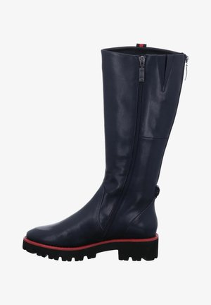 Platform boots - dunkelblau