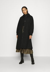 Monki - ROSIE COAT - Kåpe / frakk - black dark - 1
