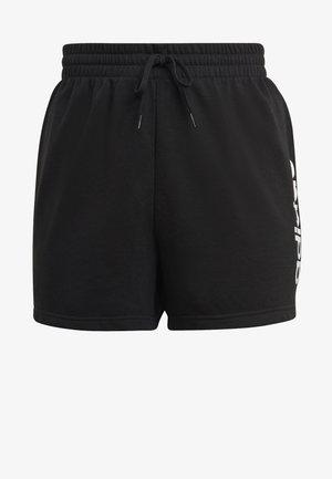 ESSENTIALS SLIM LOGO SHORTS (PLUS SIZE) - Sportovní kraťasy - black/white