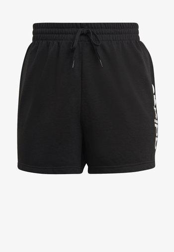 ESSENTIALS SLIM LOGO SHORTS (PLUS SIZE) - Sports shorts - black/white