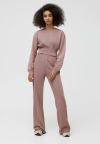PULL&BEAR - Tracksuit bottoms - mottled pink - 1