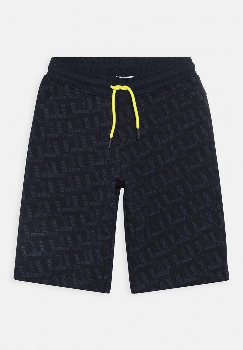 BOSS Kidswear - BERMUDA - Teplákové kalhoty - navy