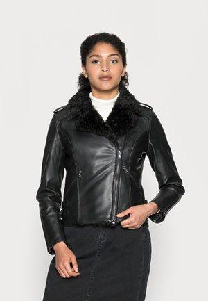 BIZZY - Kožená bunda - black