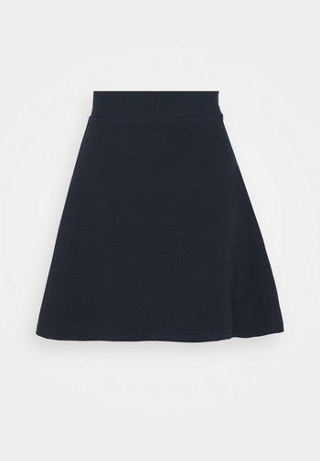 STRUCTURED SKATER SKIRT - A-line skirt - sky captain blue
