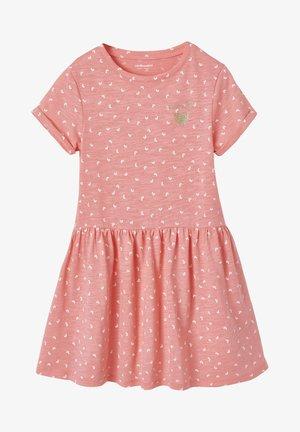 Jersey dress - salmon