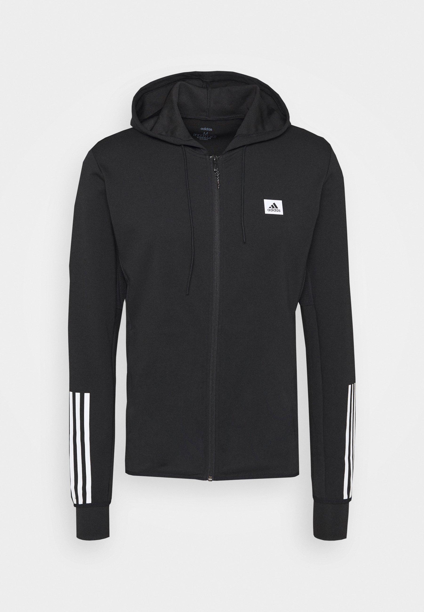 Adidas Sport jacket jacke Hoodie Schwarz Baumwolle Track