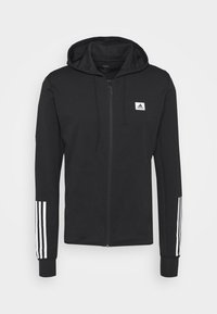 adidas Performance - AEROREADY TRAINING SPORTS SLIM HOODED JACKET - Mikina na zip - black/white - 4