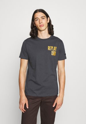 Print T-shirt - smoke grey