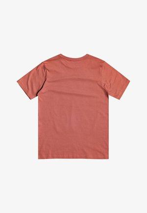 QUIKSILVER™ OVERSIZED - T-SHIRT FÜR JUNGEN 8-16 EQBZT04133 - T-Shirt print - redwood