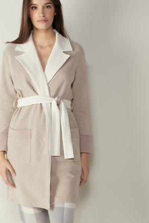 IM MILANO-RIPP - Dressing gown -  beige/talc white/pink