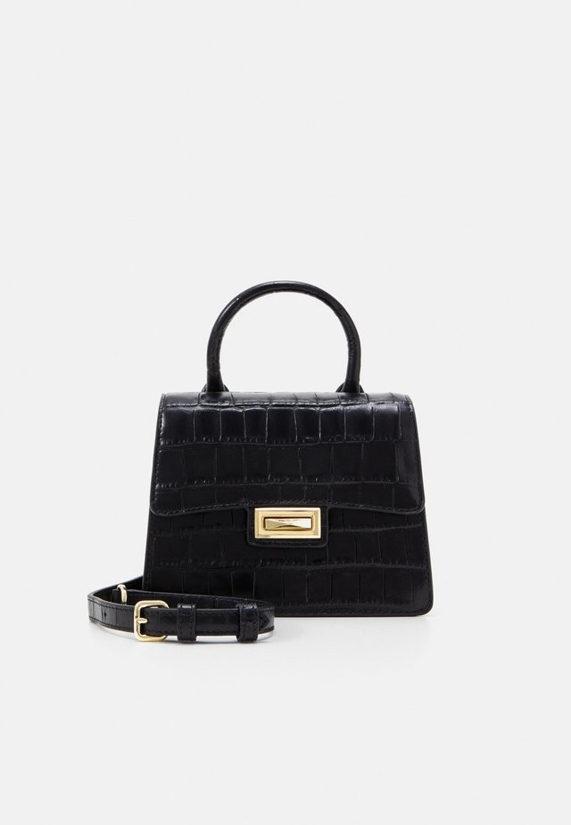 JOJO MINI SATCHEL - Håndtasker - black/gold