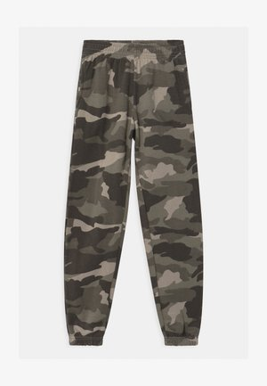 CAMO CUFFED - Tracksuit bottoms - green