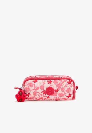 GITROY - Pencil case - pink leaves