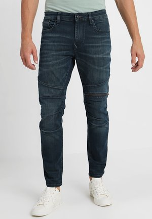 DEAN BIKER CROPPED - Slim fit jeans - dark shaded