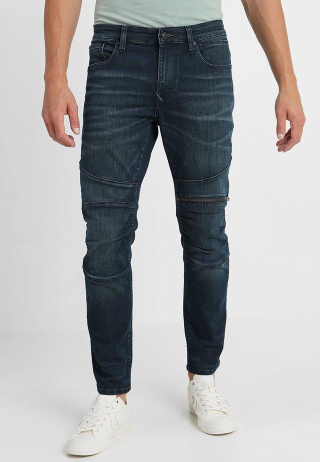 DEAN BIKER CROPPED - Slim fit jeans - dark shaded