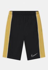Nike Performance - UNISEX - Pantalón corto de deporte - black/saturn gold/white - 0
