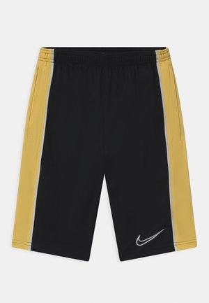 UNISEX - Sports shorts - black/saturn gold/white