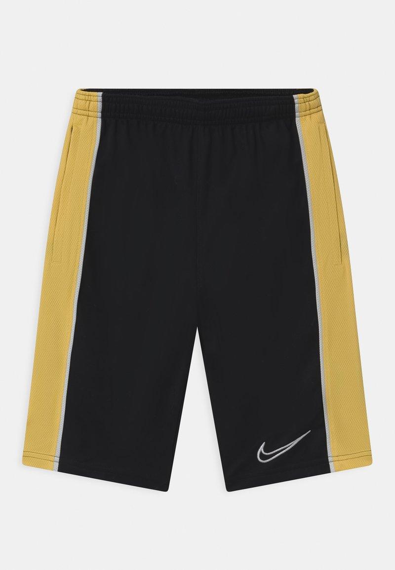 Nike Performance - UNISEX - Pantalón corto de deporte - black/saturn gold/white