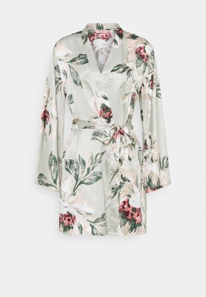 KIMONO PAINTED FLOWER - Dressing gown - pale