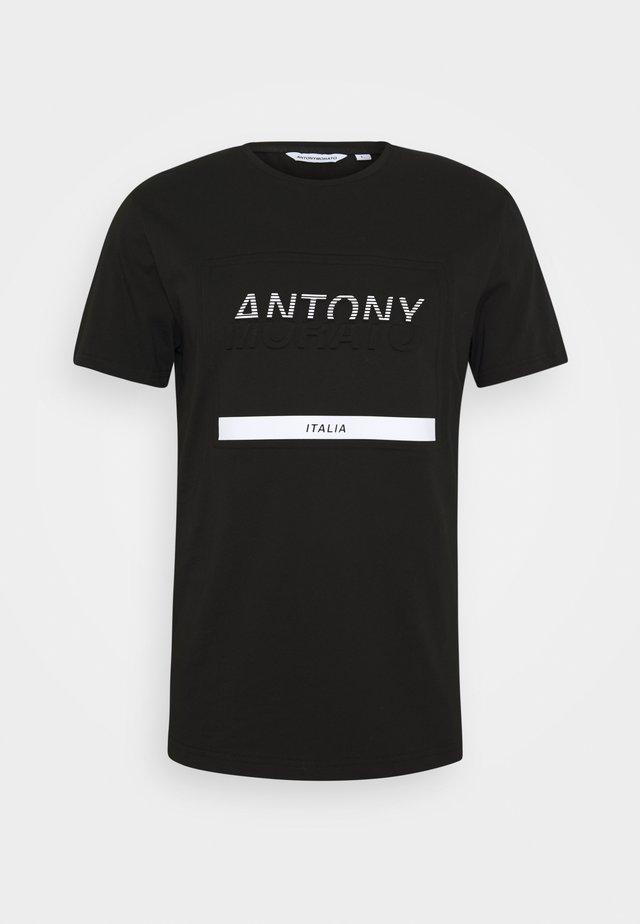 ROUND NECK COLLAR  - Print T-shirt - black