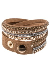 sweet deluxe - WANDA - Armbånd - brown/crystal/topaz/gold - 2