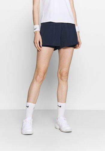 SHORT - Sports shorts - obsidian/white