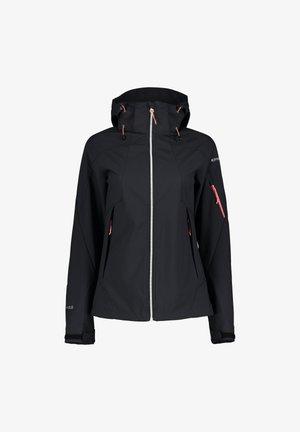 BARABOO - Soft shell jacket - schwarz/hellrot