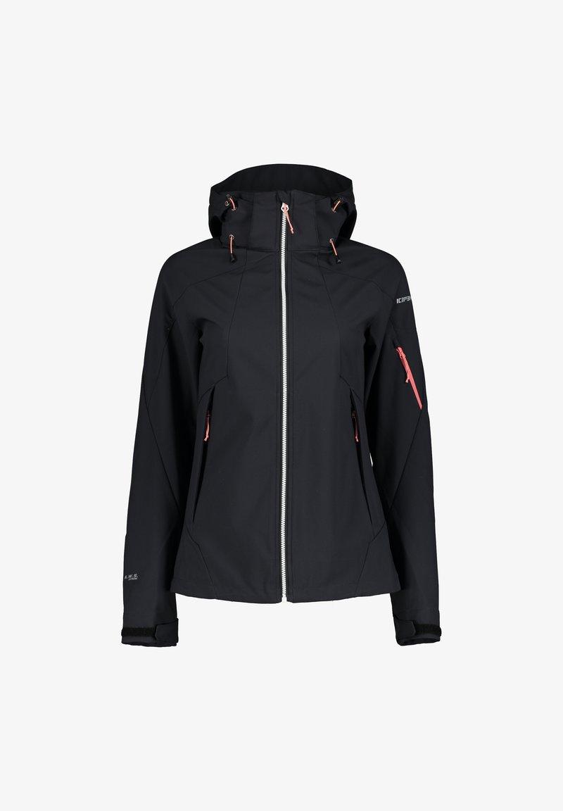 Icepeak - BARABOO - Soft shell jacket - schwarz/hellrot