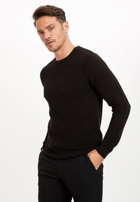 DeFacto - JUMPER - Strickpullover - black - 3