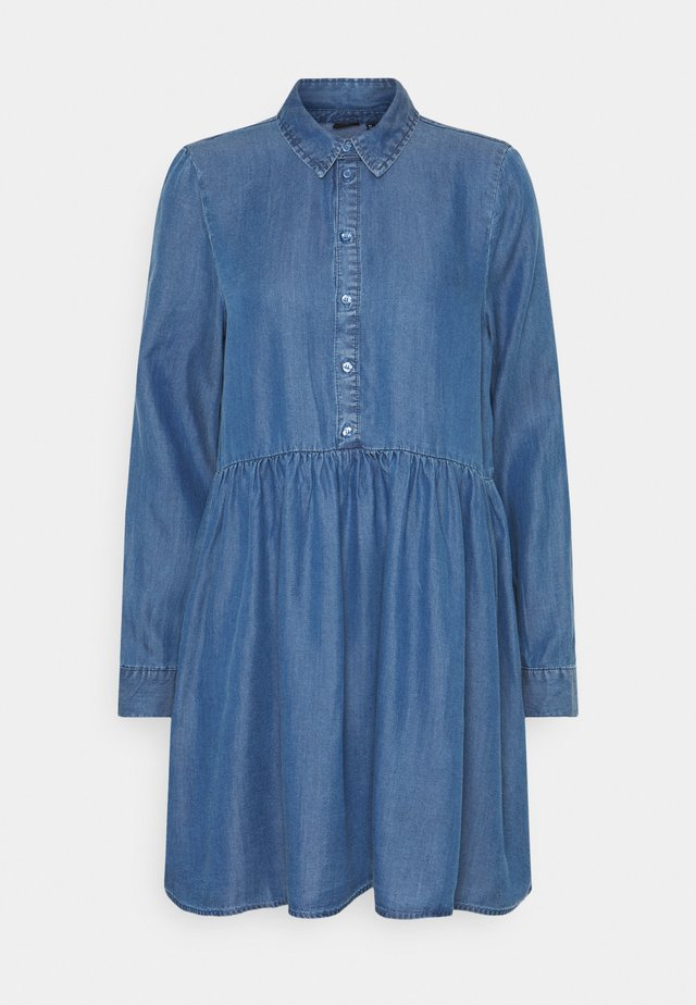 VMLIBBIE  - Denim dress - medium blue denim
