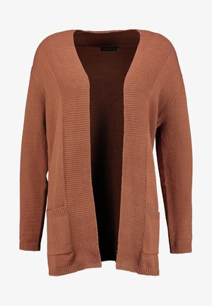 OPEN CARDIGAN - Chaqueta de punto - browns