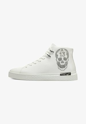 LUCKY - High-top trainers - white gunmetal