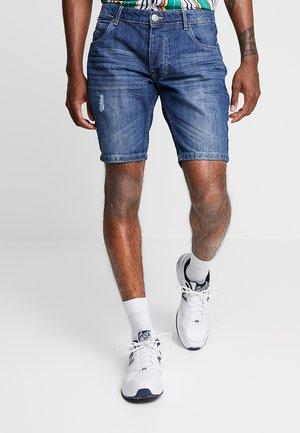 WILLSTAPE - Szorty jeansowe - light blue wash