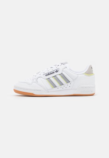 CONTINENTAL 80 STRIPES UNISEX - Matalavartiset tennarit - footwear white/grey two/semi frozen yellow