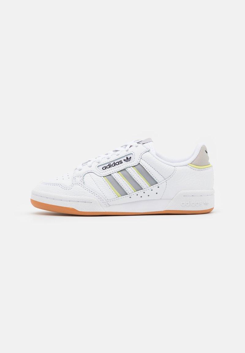 adidas Originals - CONTINENTAL 80 STRIPES UNISEX - Sneakersy niskie - footwear white/grey two/semi frozen yellow