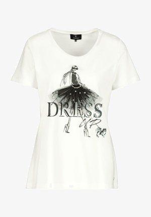 MIT DETAILS - Print T-shirt - off white