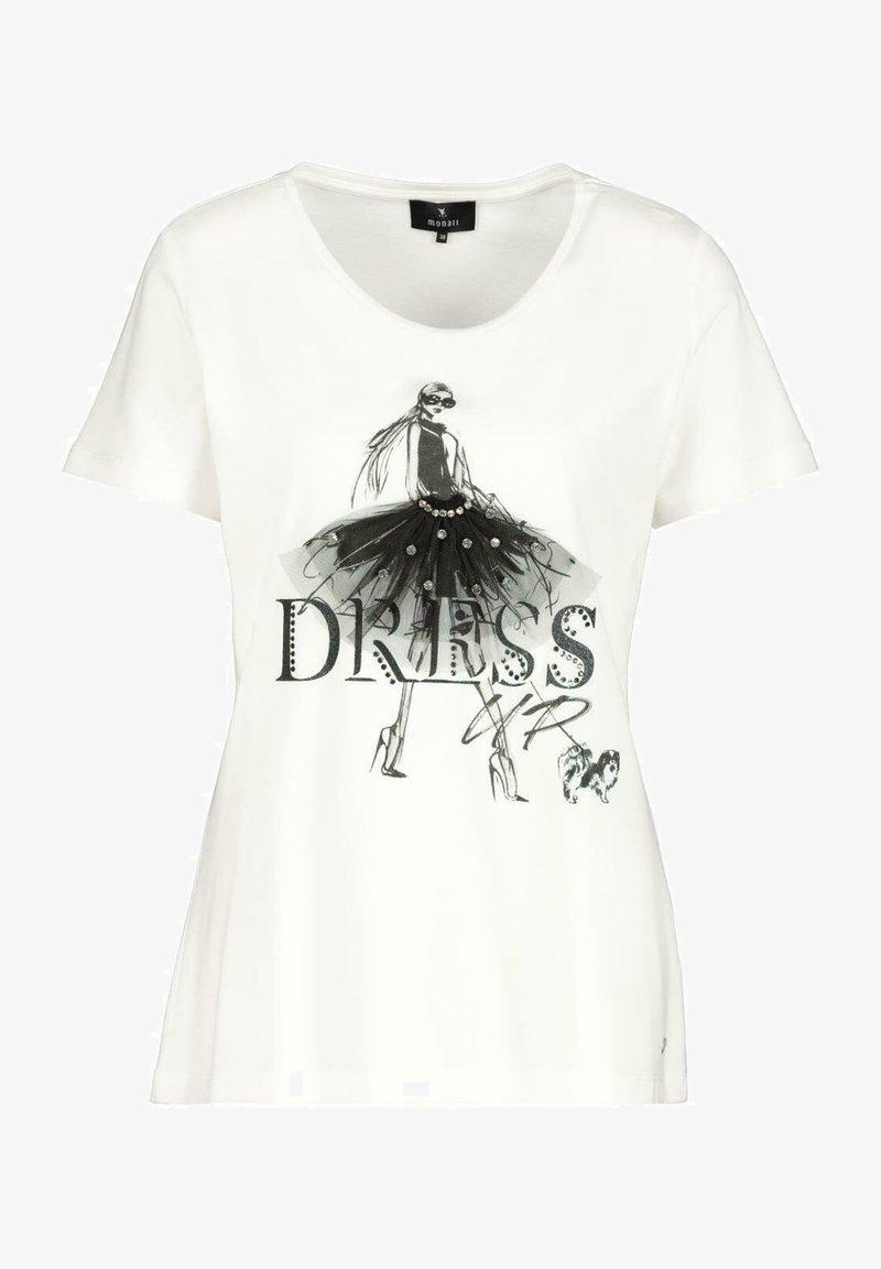 Monari - MIT DETAILS - Print T-shirt - off white