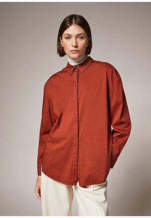 Button-down blouse - cinnamon