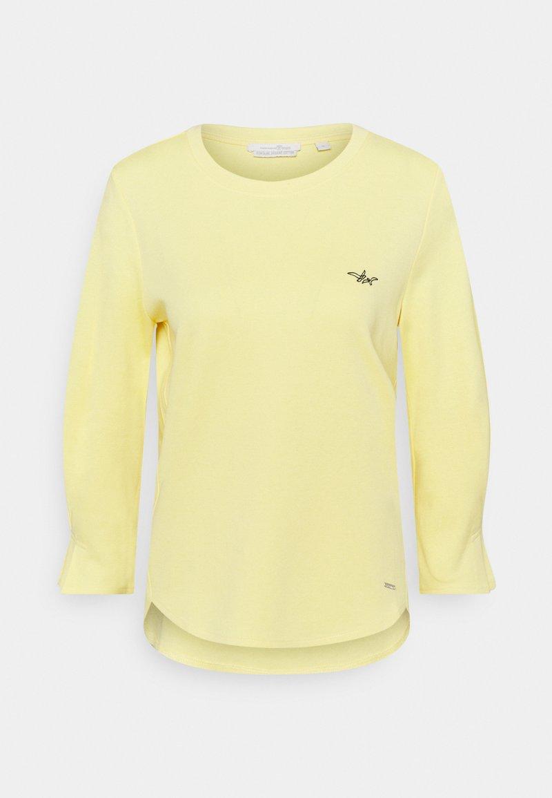 TOM TAILOR DENIM - T-shirt à manches longues - honey popcorn