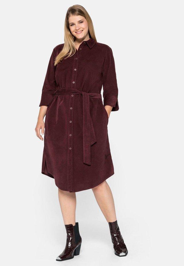 Shirt dress - weinrot